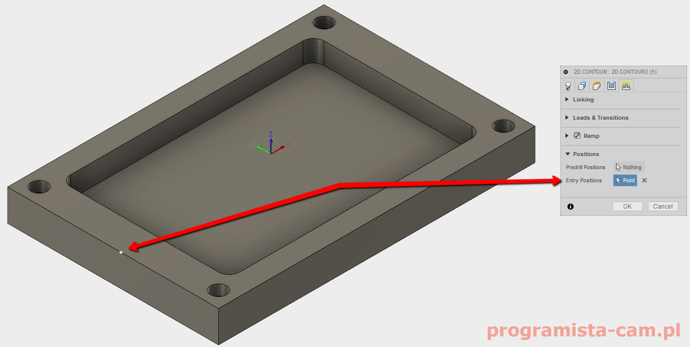 entry positions fusion 360