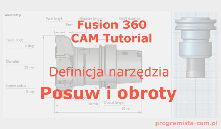 posuw i obroty wrzeciona fusion 360