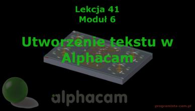 alphacam tekst