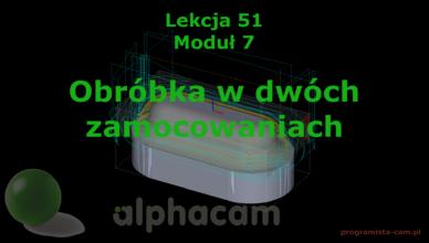 alphacam dwa zamocowania